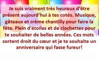 31 Textes D Anniversaire Sympas Phrases Sympas Pour Souhaiter Un